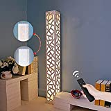 ELINKUME Dimmbare LED Stehleuchte Weiß Neues Upgrade Fernbedienung Funktion WPC Material Wohnzimmer Lampe Adjustble Farbtemperatur Schlafzimmer Licht Energiesparende Beleuchtung