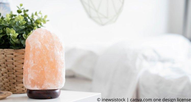 Salzlampe im Schlafzimmer
